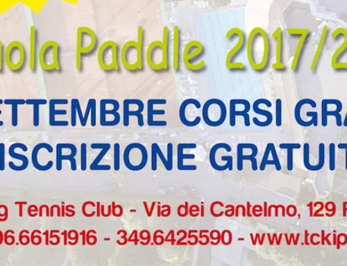 Scuola Paddle 2017-2018