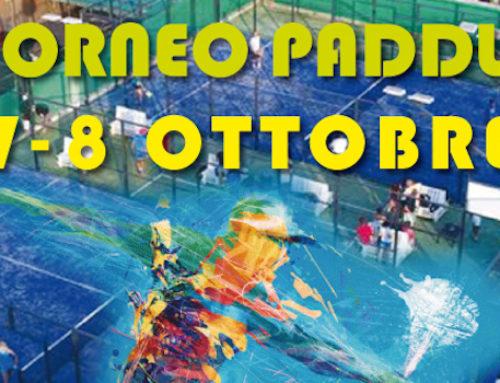 Torneo di Paddle 7-8 Ottobre