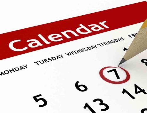 Calendario 17 – 18 Febbraio