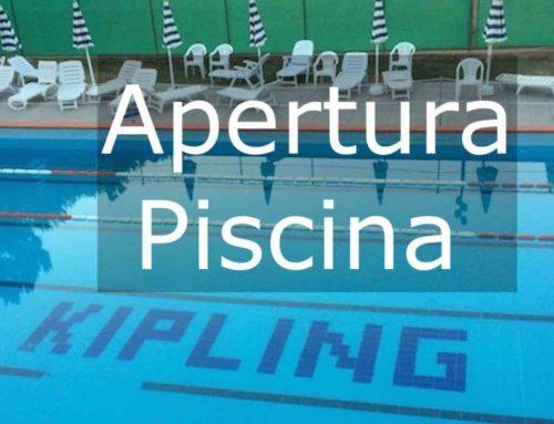 Apertura Piscina Estate 2019